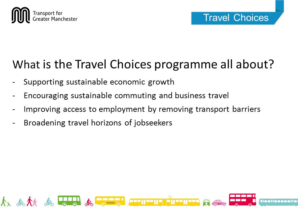 Travel Choices What is the Travel Choices programme all about.