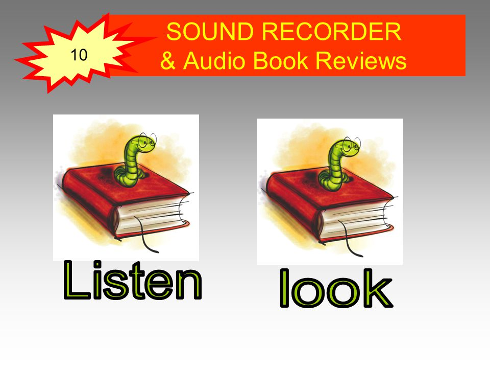 SOUND RECORDER & Audio Book Reviews 10