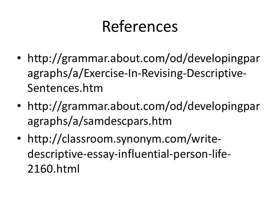 descriptive essay assignment % write a descriptive essay on one  34 references