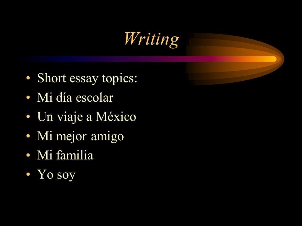 I have to write an essay on why i chose Spanish...help?