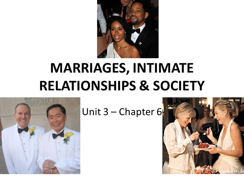 MARRIAGES, INTIMATE RELATIONSHIPS & SOCIETY Unit 3 – Chapter 6