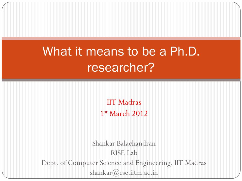 Ph.d means