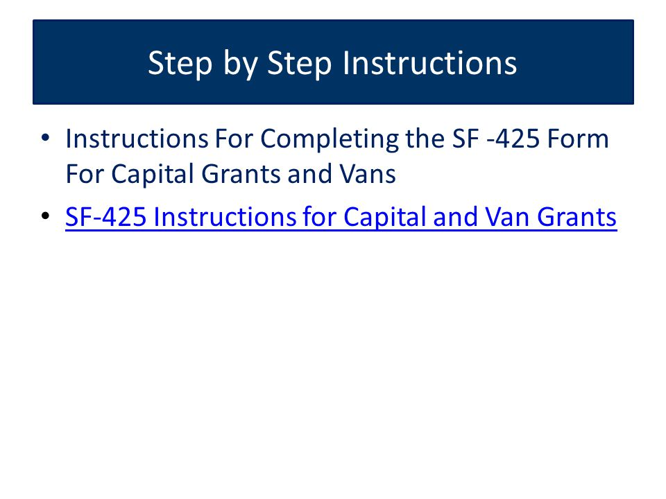 Federal Financial Reporting (Standard Form SF-425) How to Complete ...