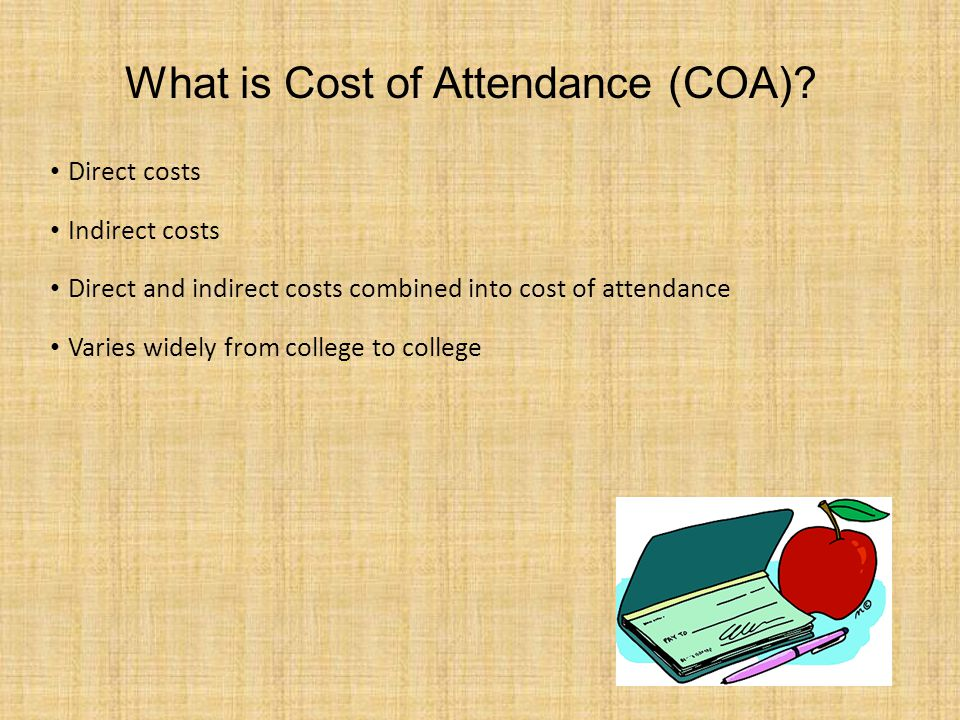 What is Cost of Attendance (COA).