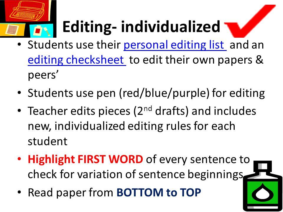 English Personal Editing