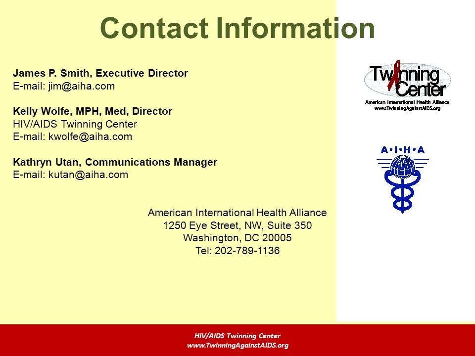 Contact Information James P.