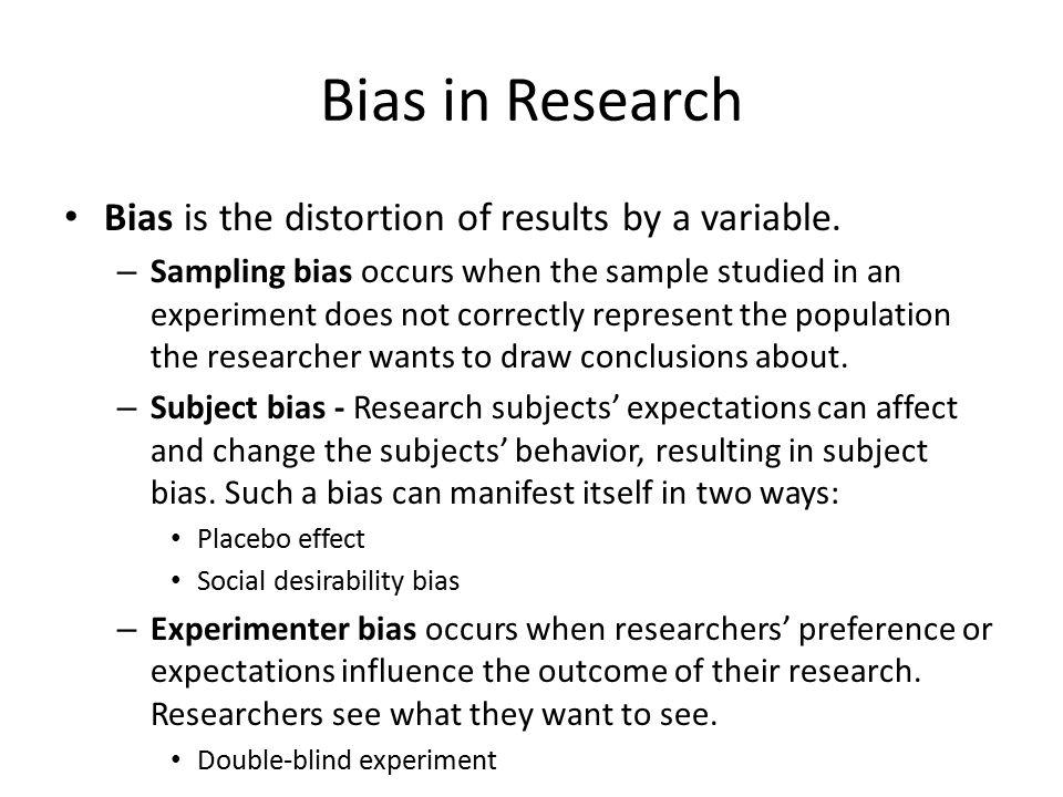 Research bias