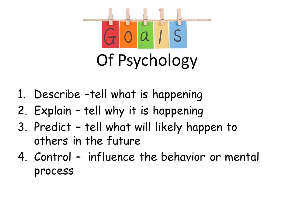 How can i separate psychology in to 2 to 3 parts?