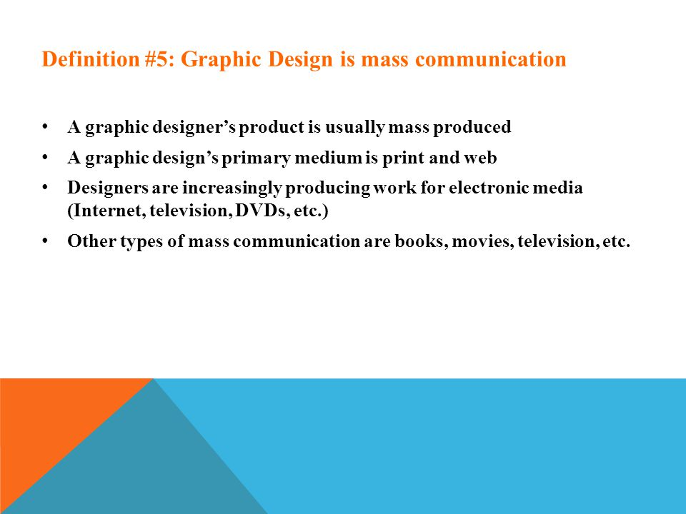 the definition of graphic design