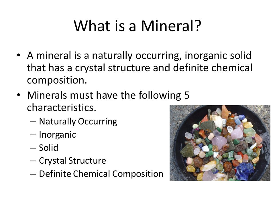 What is a Mineral.