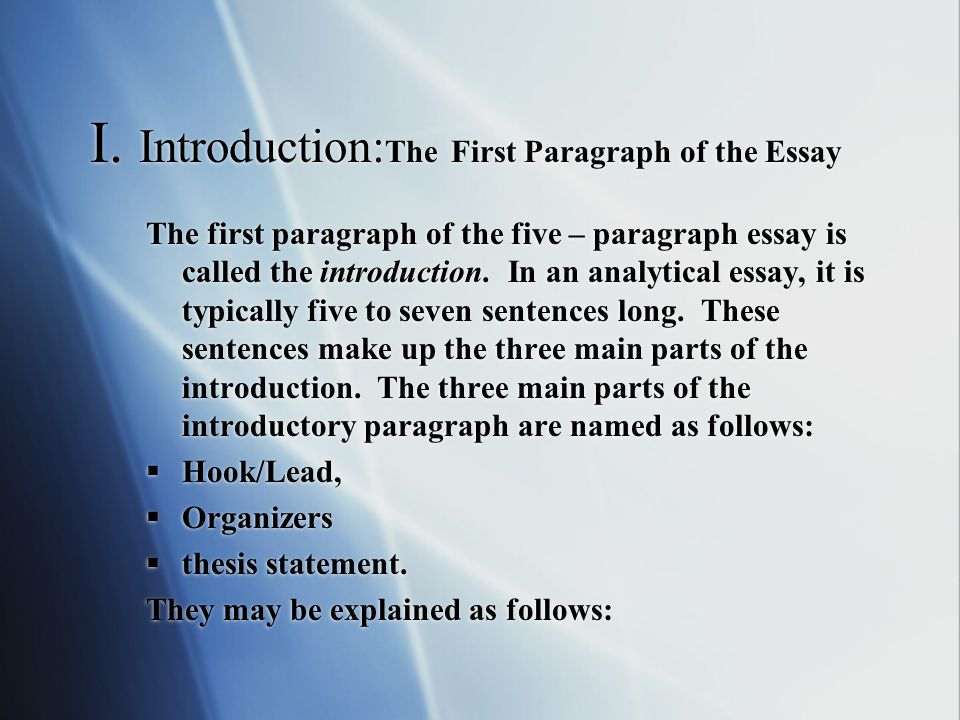 argumentative essay opening paragraph