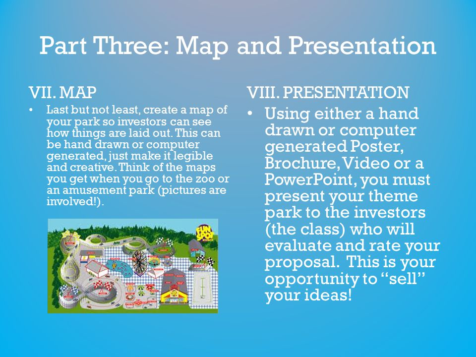 Part Three: Map and Presentation VII.