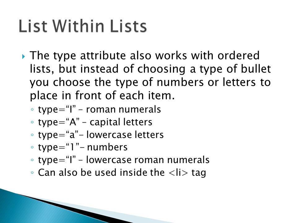 tag letters ssome html tags allow you to specify a variety of options or