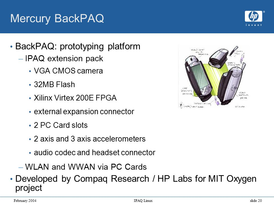 Hp Linux on iPAQ Jamey Hicks Cambridge Research Laboratory