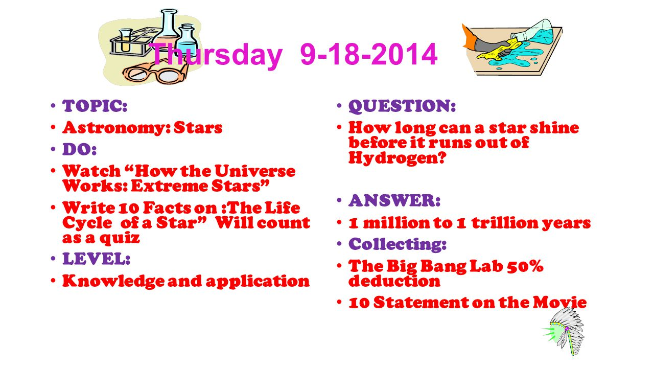 worksheet How The Universe Works Big Bang Worksheet warm ups 1 st quarter astronomy wednesday topic classroom thursday 9 18 2014 stars do watch how the