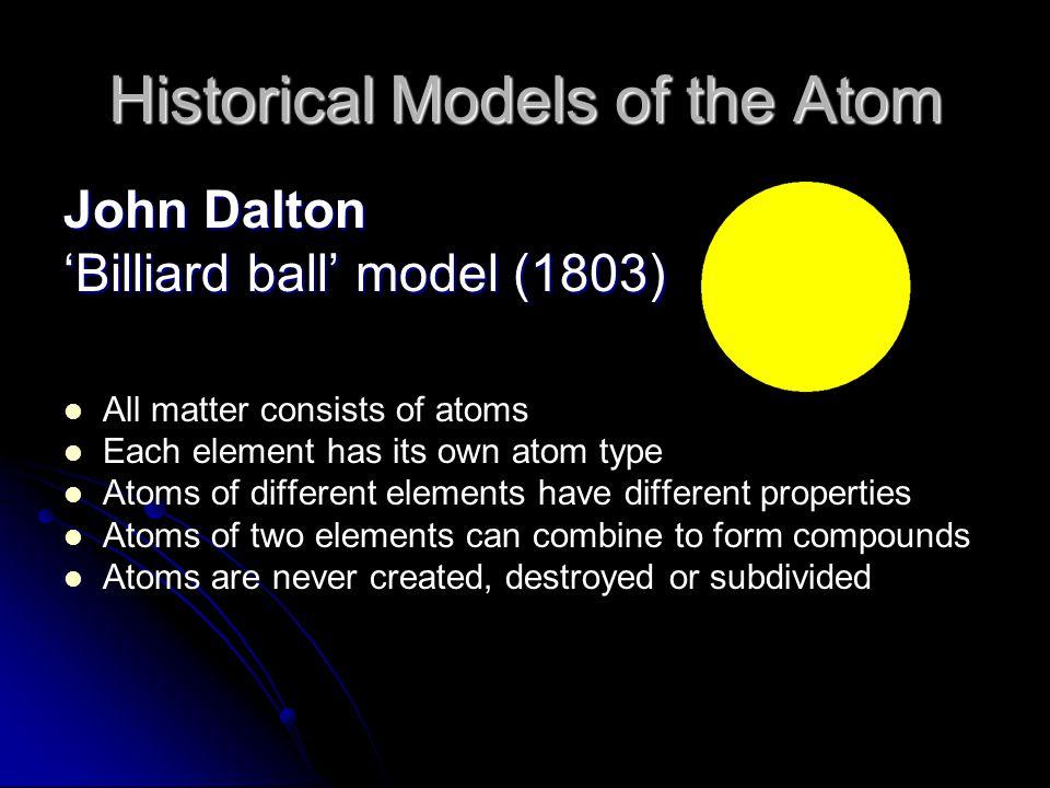 an analysis of the atomic theory of matter by john dalton