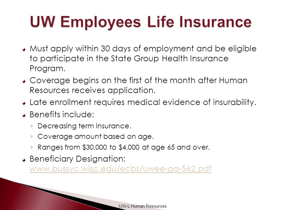 Must apply within 30 days of employment and be eligible to participate in the State Group Health Insurance Program.