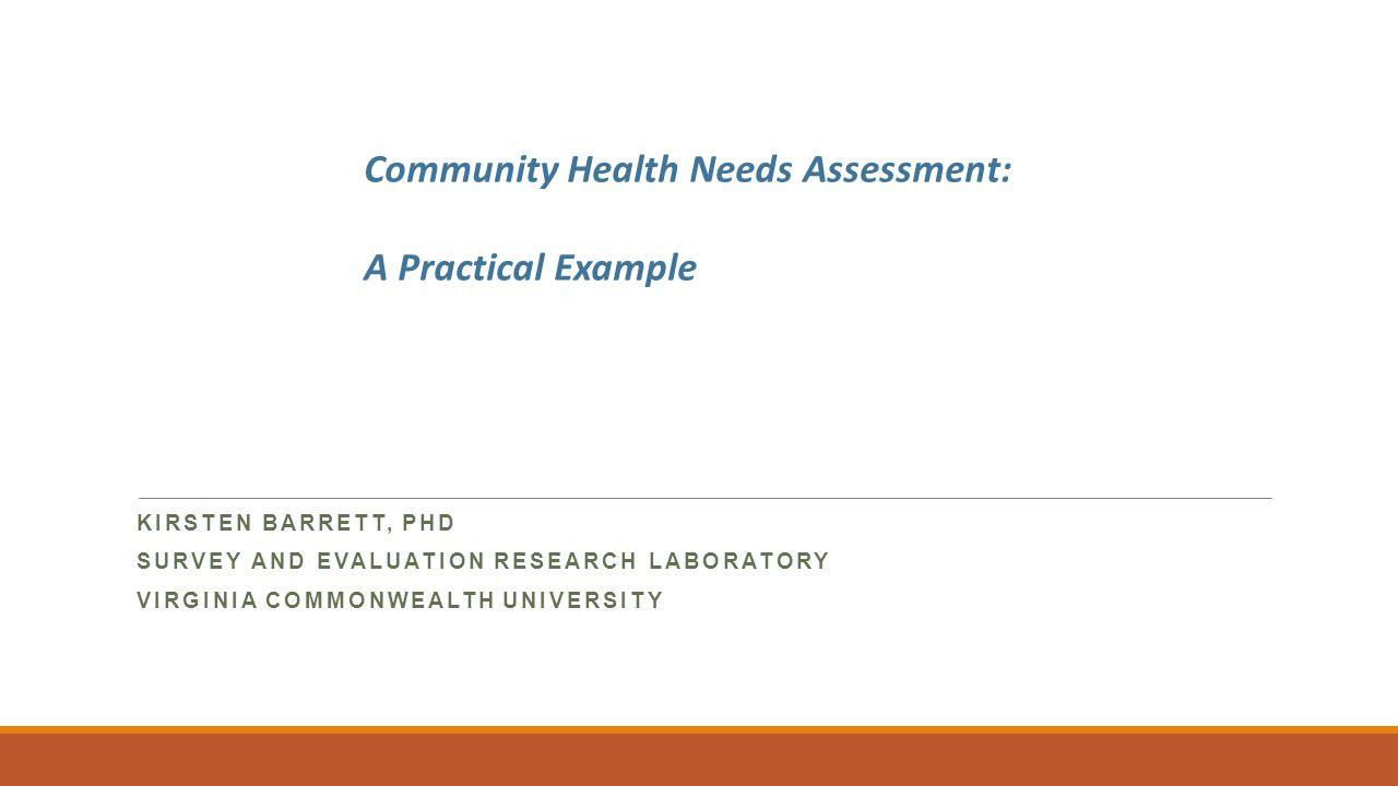 needs assessment survey example