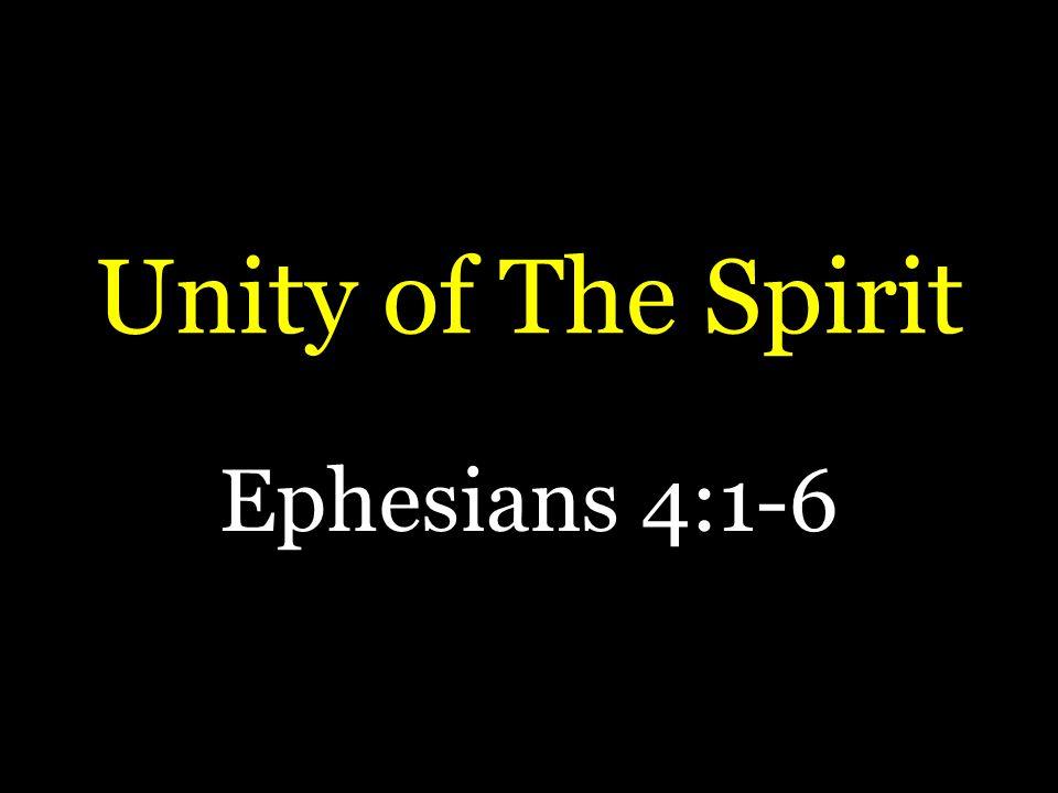 Unity of The Spirit Ephesians 4:1-6