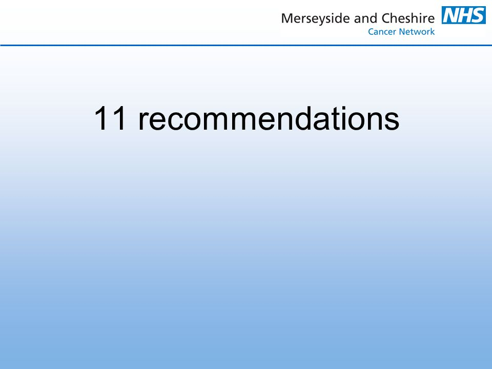 11 recommendations