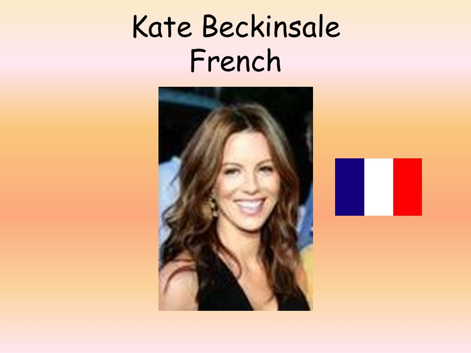 Kate Beckinsale French