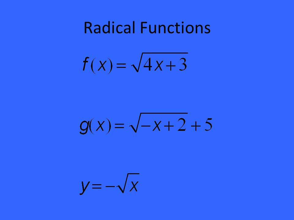 Domain and range domain the domain is the set of all x values 6 radical functions ccuart Image collections