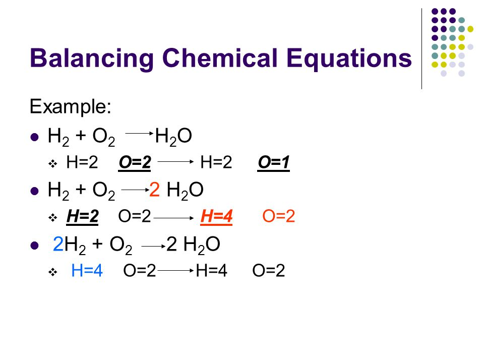 Balancing Equation Examples  Jennarocca