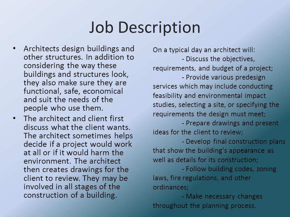 2 Job Description Architects ...