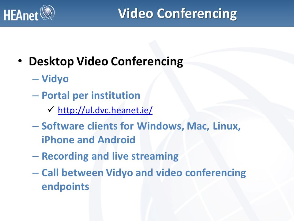 video conferencing ppt  for windows