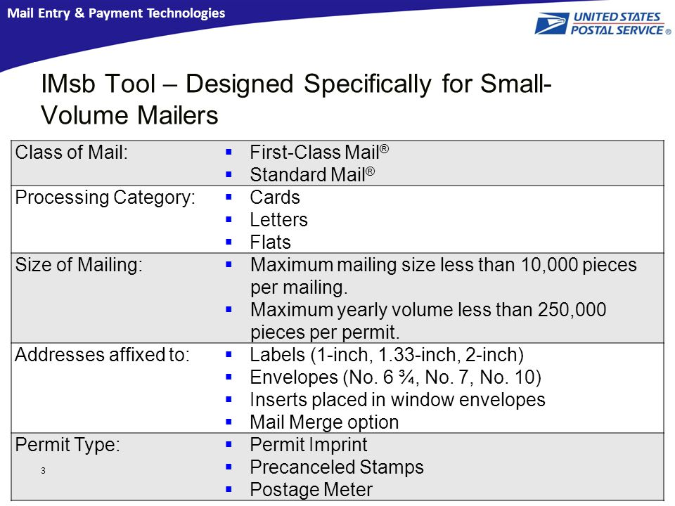 Mail Entry & Payment Technologies Mailing Made Easy for Small ...