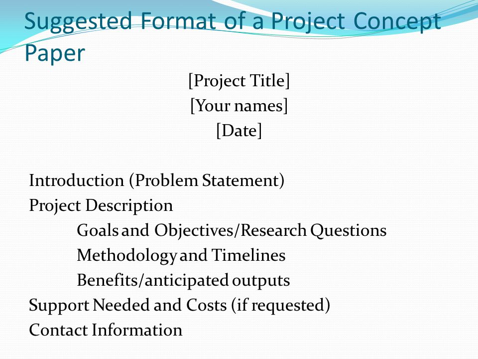 research paper problem statement