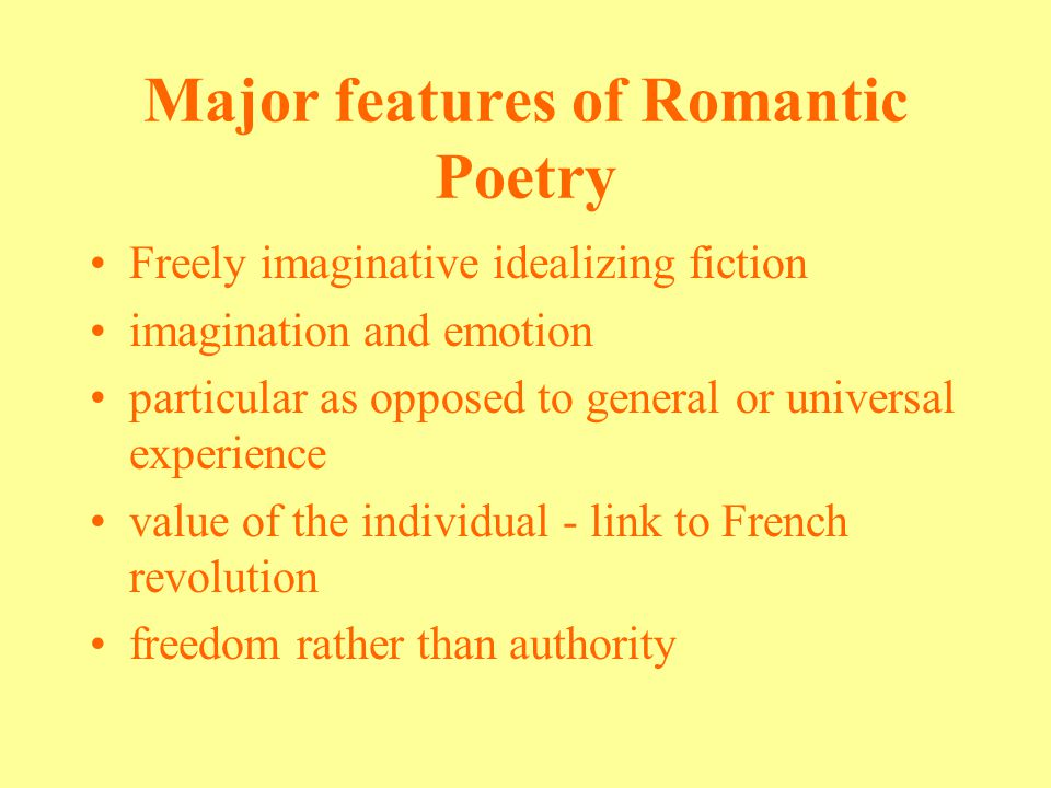 the major differences between the neoclassical and romantic poems The english neoclassical movement the influence of german romantic thought, religious tendencies like the rise of methodism, and political events like the.