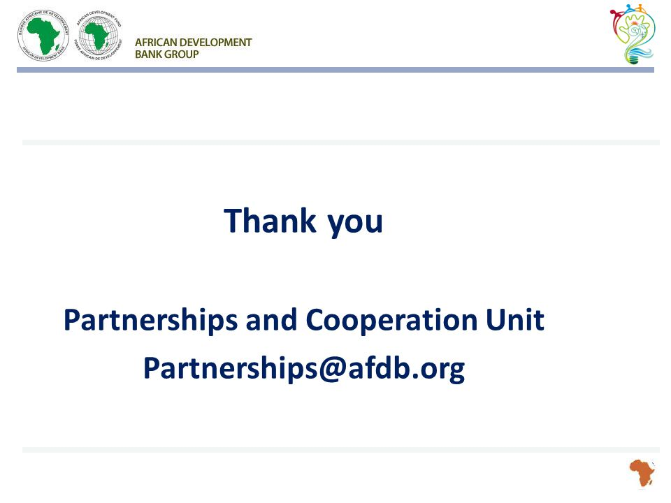 Thank you Partnerships and Cooperation Unit