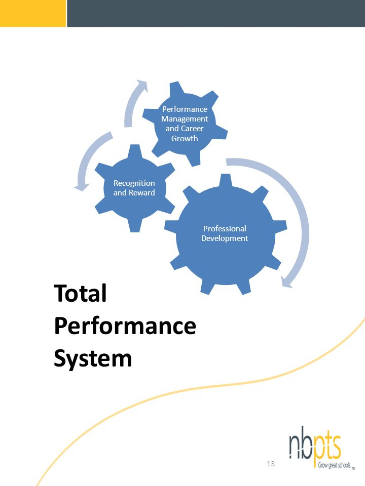 Total Performance System 13 Professional Development Recognition and Reward Performance Management and Career Growth