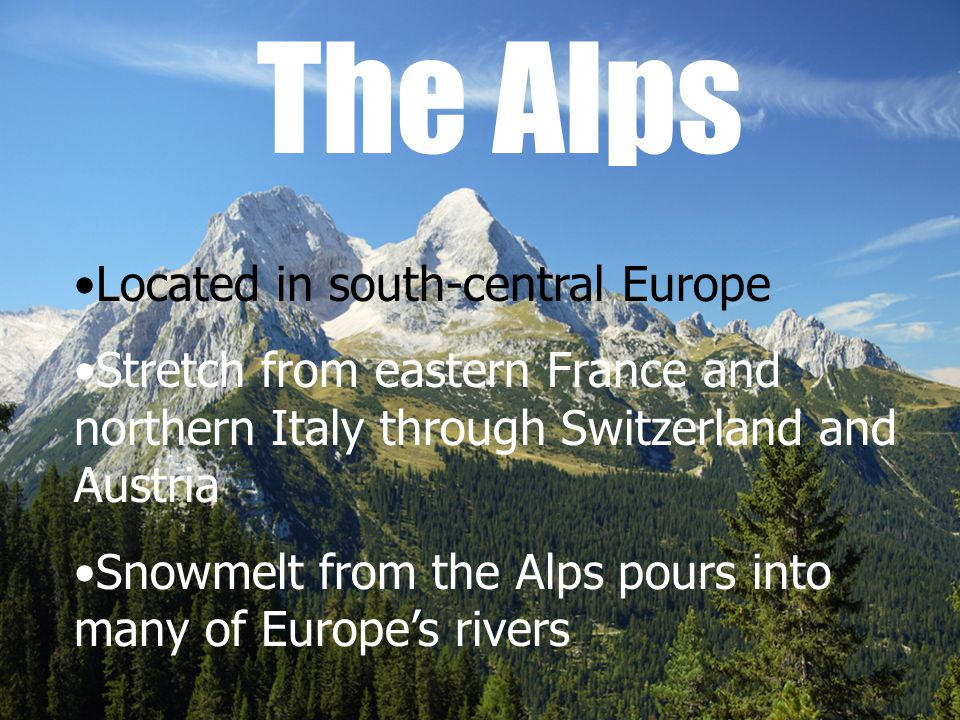 Welcome To Europe Continent Of Varying Landscapes Abundant - Which continent is austria located