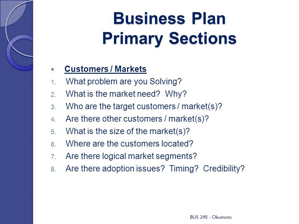 Market business plan