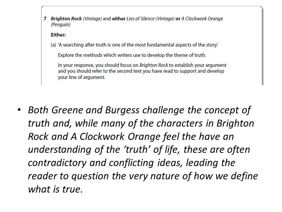 brighton rock and a clockwork orange essay