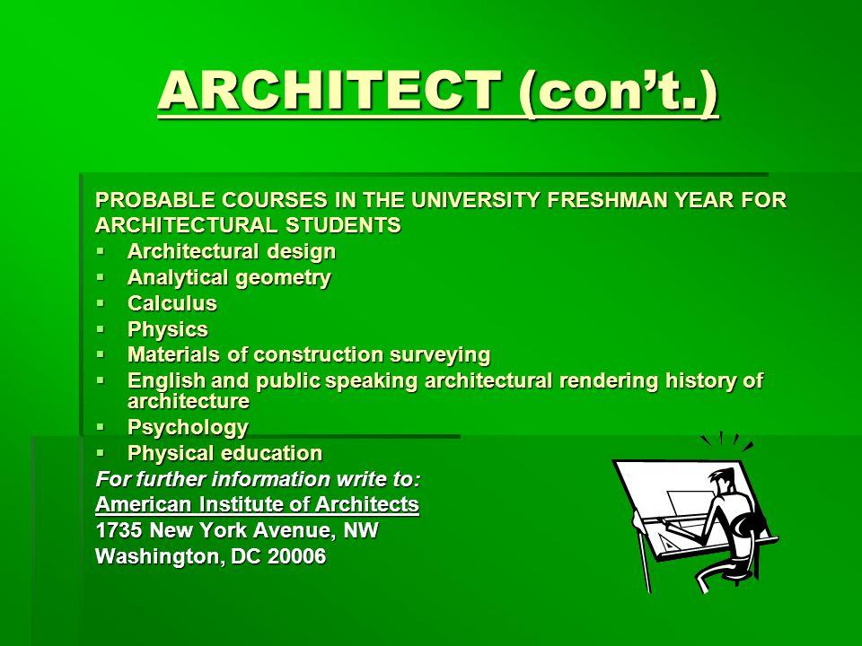 5 ARCHITECT ...