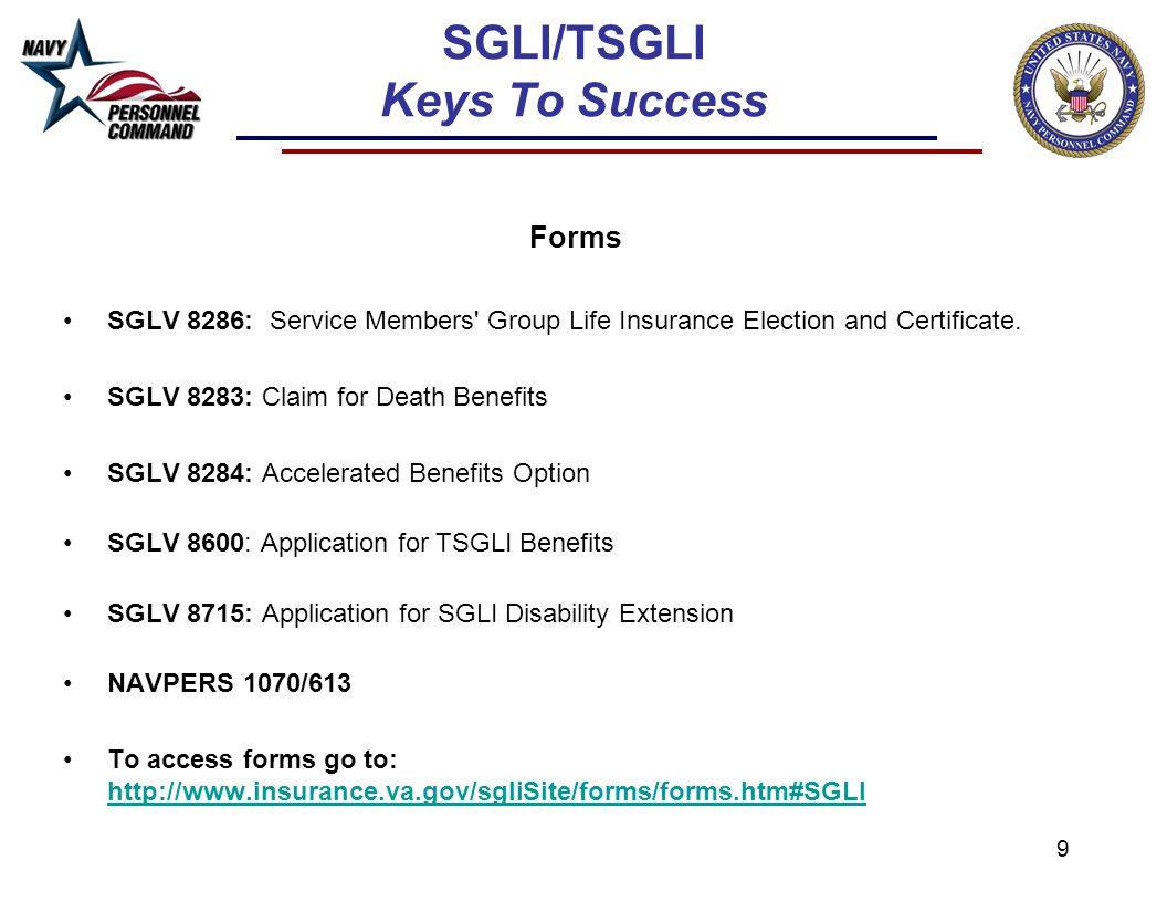 SGLI and TSGLI Overview 'Keys to Success'. 2 SGLI/TSGLI Keys To ...