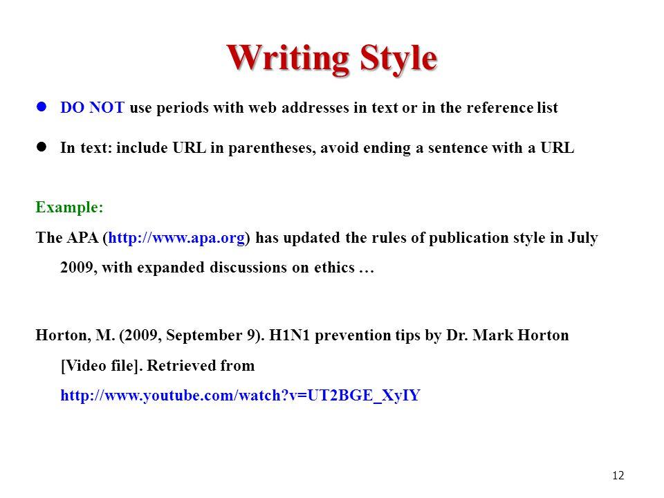 Apa 6 reference list