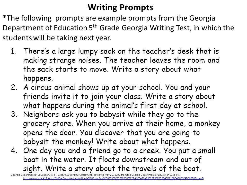 Essay Writing Topics For 4Th Grade