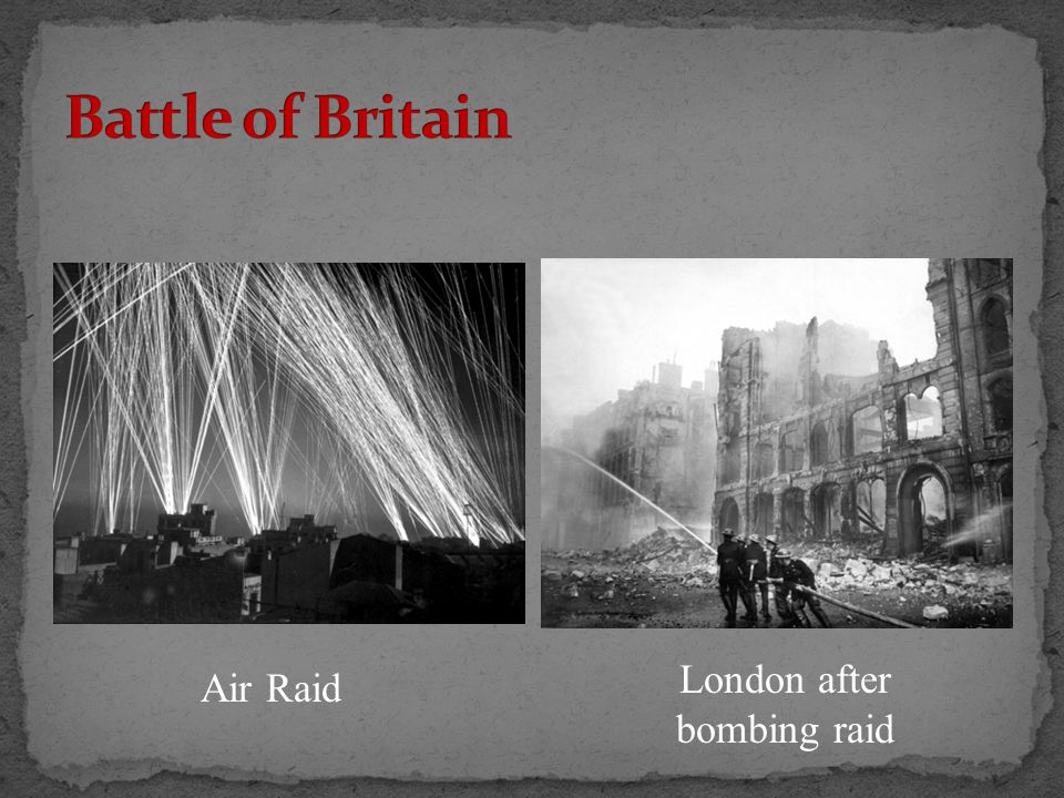 Air Raid London after bombing raid