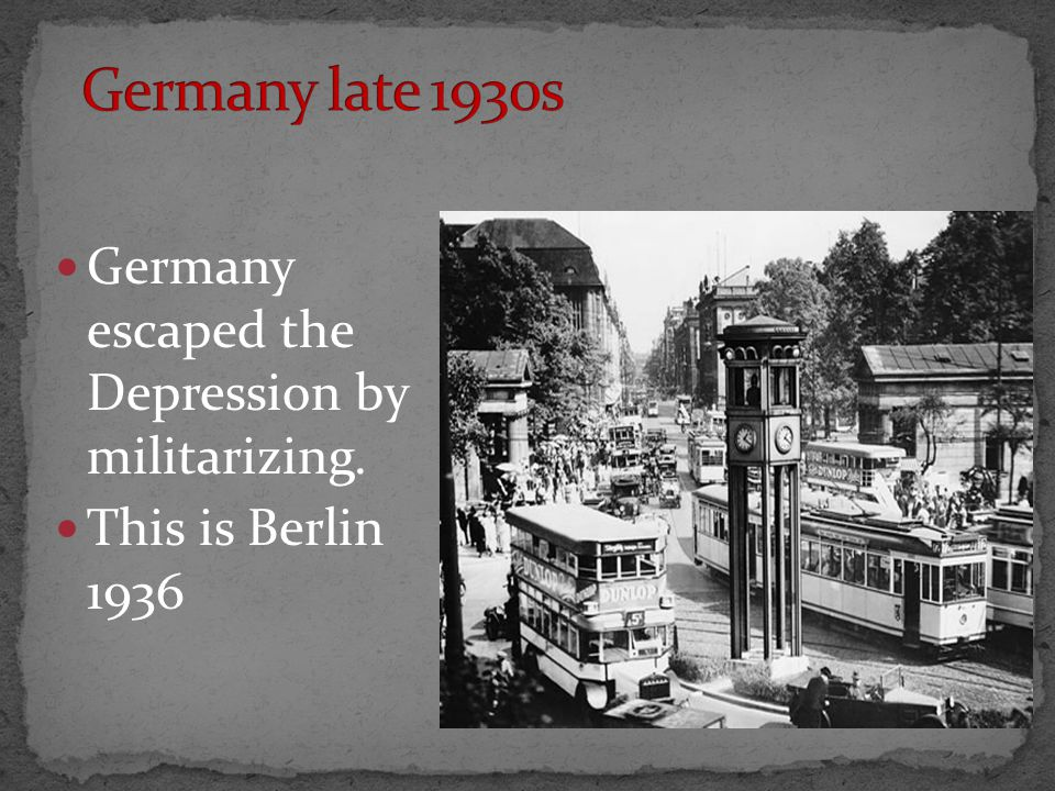 Germany escaped the Depression by militarizing. This is Berlin 1936