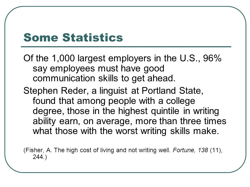 professional writing skills the importance of developing your  4 some statistics