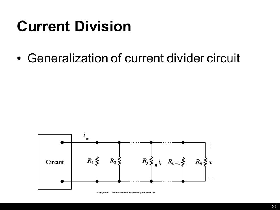 Current Division 20 Generalization of current divider circuit