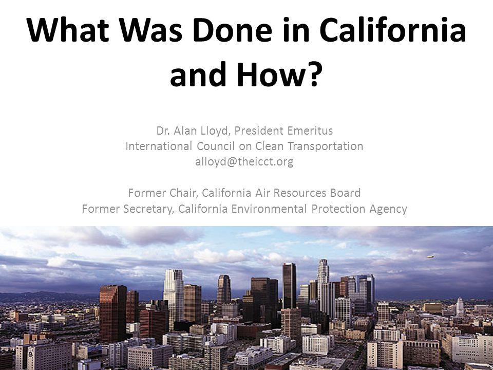 What Was Done in California and How. Dr.