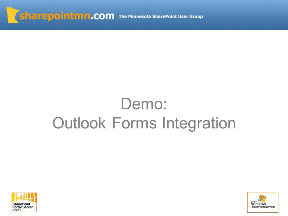 Demo: Outlook Forms Integration