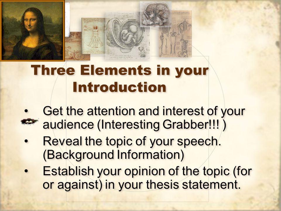 Elements of a great speech