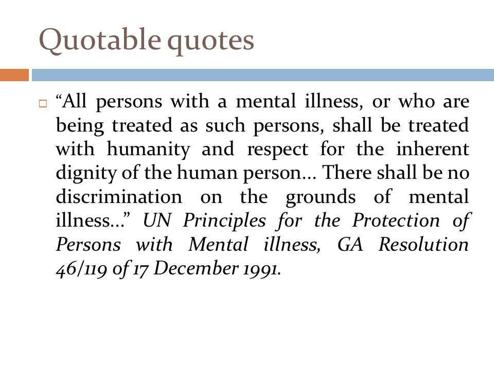 mental health rights