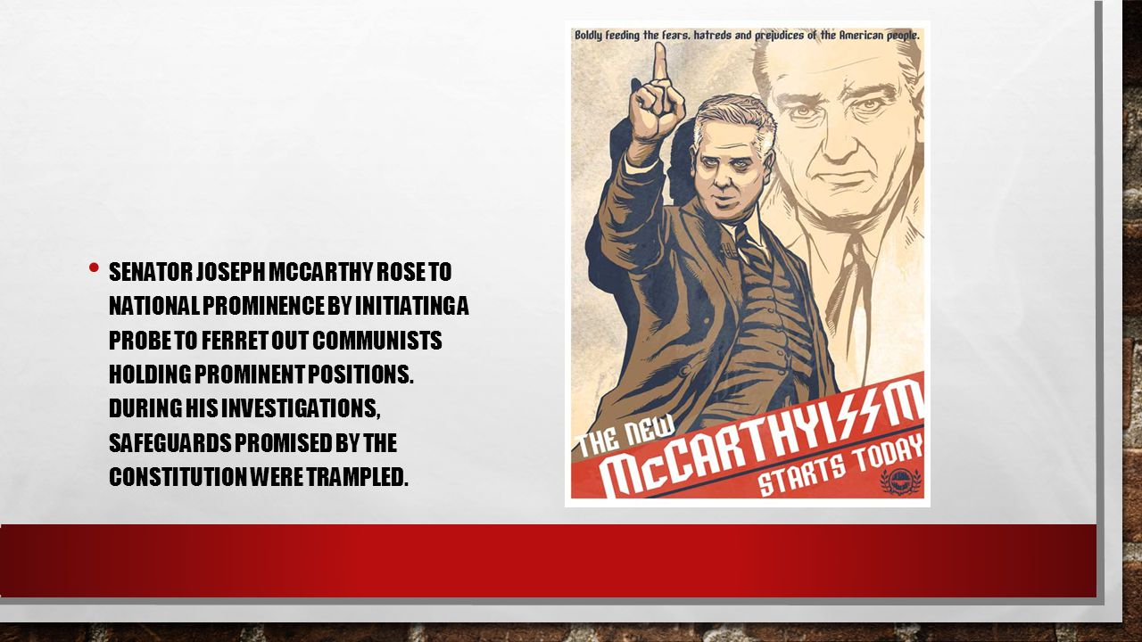 What are comparisons between McCarthyism, the Salem Witch Trials and Politics today?